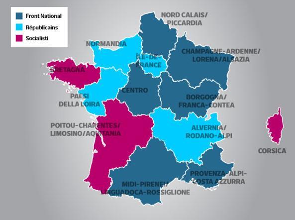 La fotografia politica della Francia dopo il primo turno delle Regionali