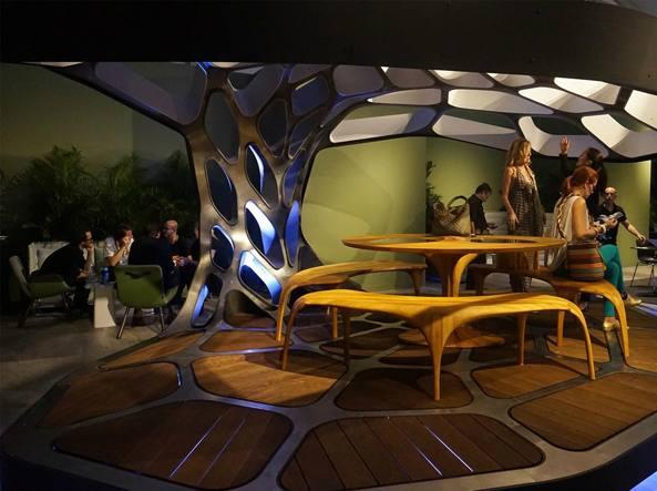 Il progetto di sala da pranzo Volu di Zaha Hadid per Revolution