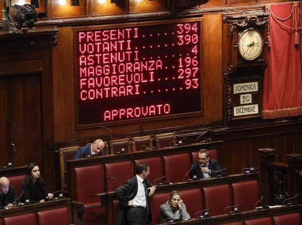 Montecitorio. Approvata la legge di Stabilit� (Ansa)
