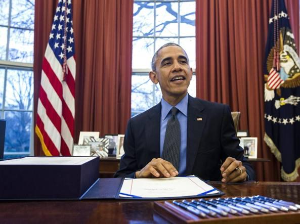 Barck Obama alla Casa Bianca (Epa)
