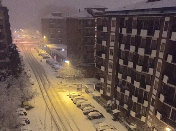 Milano (Foto da Twitter @FedeGrioli)