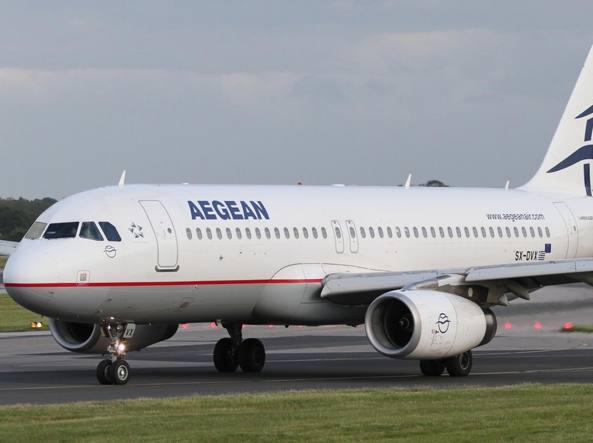 Un aereo della Aegean Airlines