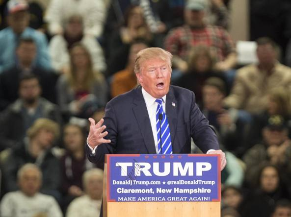 Donald Trump in  New Hampshire (Afp)