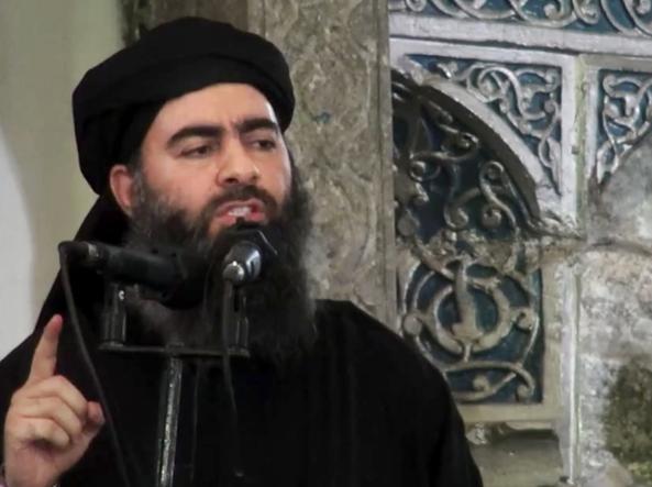 Il leader di Isis il �Califfo� Abu Bakr al Baghdadi (Ap)