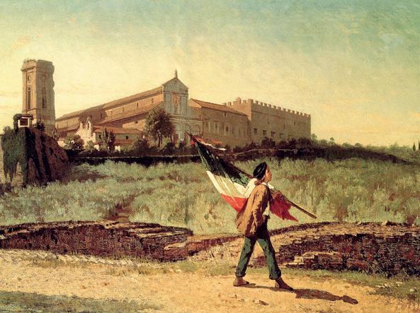 Francesco Saverio Altamura (1822-1897), La prima bandiera italiana portata in Firenze nel 1859.