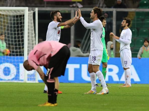 Il fischio finale di Palermo-Fiorentina 1-3 (LaPresse/Anastasi)