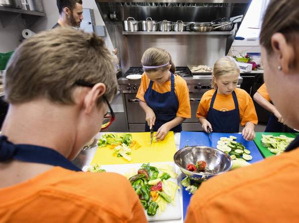 Laboratorio di cucina in classe negli Usa (Getty Images)