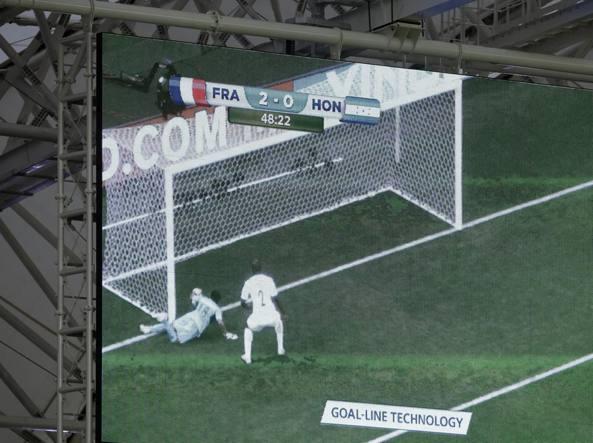 Brasile 2014: il gol del 3-0 di Francia-Honduras certificato dalla Goal Line Technology (Ap/Medichini)