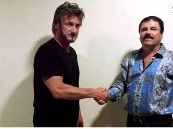 El Chapo e  Sean Penn (Epa)