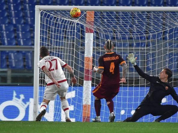 Il gol di Kucka che vale l'1-1 del Milan (Ansa/Ferrari)