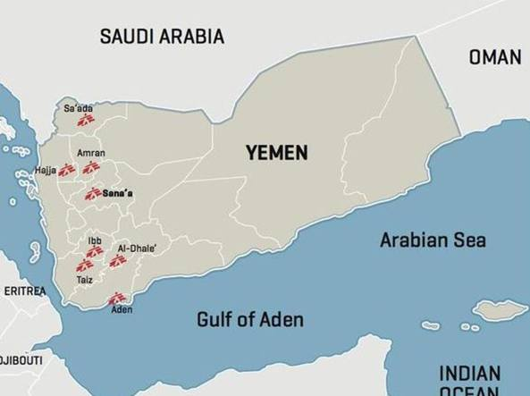 Gli ospedali gestiti da Msf in Yemen (foto Twitter)