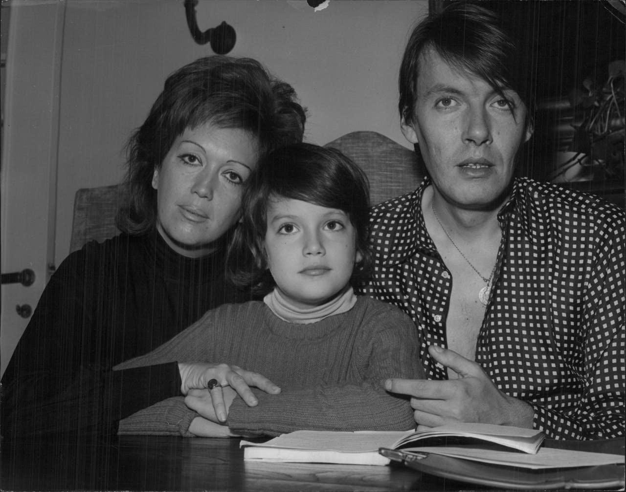 Con la prima moglie Enrica Rignone e il figlio Cristiano