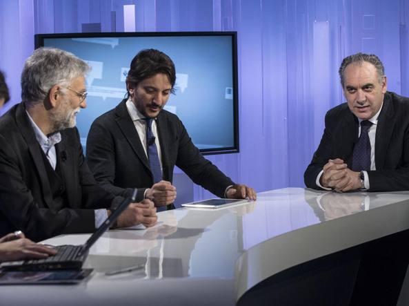 Giovanni Legnini negli studi di #CorriereLive