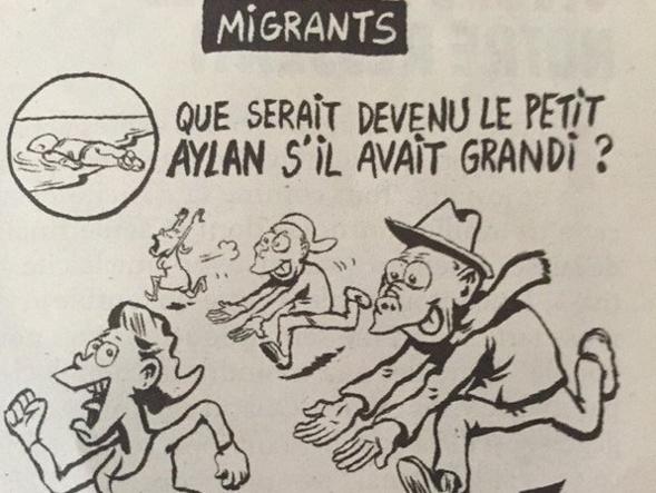 La vignetta di Riss per Charlie Hebdo (clicca per ingrandire)