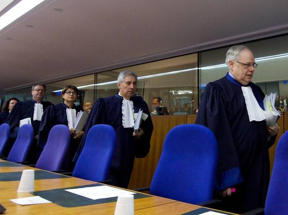 I giudici della Corte europea dei diritti umani (Epa)