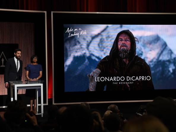 L'annuncio della nomination per Leonardo DiCaprio (Afp/Ralston)