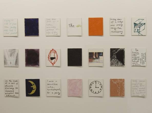 Un particolare di «Dream Palette» (1986) di Jenny Watson
