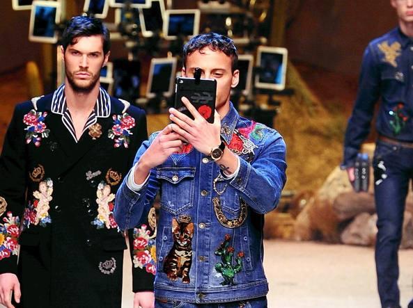 Alla sfilata di Dolce & Gabbana (Fotogramma)