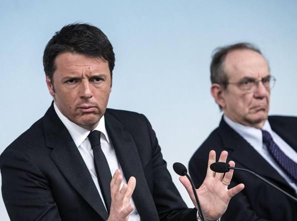 Renzi e Padoan (Ansa/Carconi)