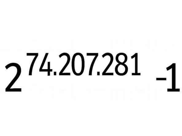 Il numero primo pi� grande espresso con la formula del �numero di Mersenne�