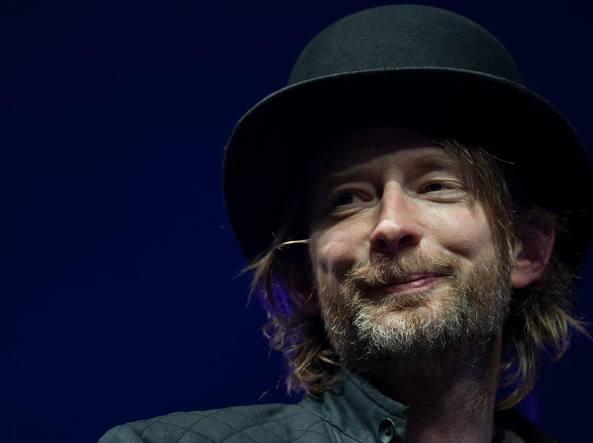 Thom Yorke, leader dei Radiohead (Afp)