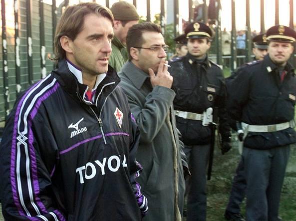 Roberto Mancini ai tempi della Fiorentina (Ap/Giovannozzi)