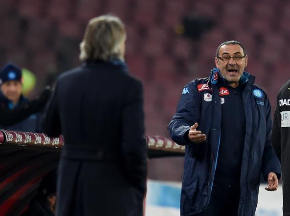 Maurizio Sarri e Roberto Mancini (Getty Images)