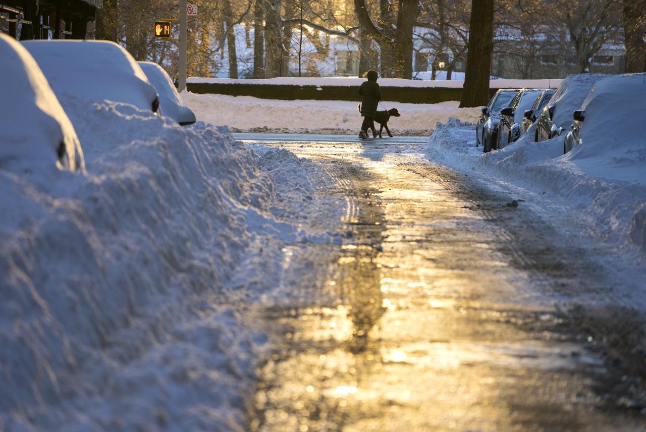 Usa sole a new york dopo la maxi tempesta di neve for La baita di columbia nj