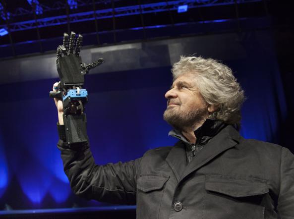 Durante le prove Il comico genovese Beppe Grillo (67 anni) durante le prove del suo nuovo spettacolo