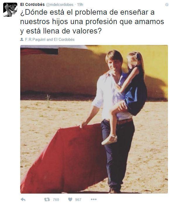 Spagna, il torero Francisco Rivera nell'arena con la figlia di 5 ...