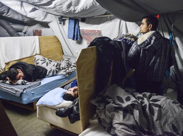 Profughi nel campo di Thisted, nello Jutland, Danimarca settentrionale (Ansa)
