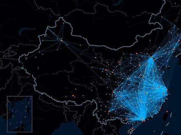 Il motore di ricerca Baidu ha una app per tracciare i viaggi dei cinesi durante le feste. Basta che un utente di Baidu (ne ha oltre 350 milioni attivi) usi una app al mattino in una citt� e poi magari alla sera in una citt� diversa e viene mappato