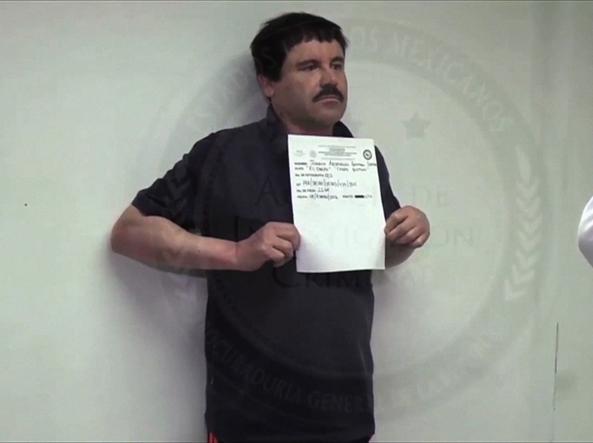El Chapo nel filmato della Procura messicana (Foto Afp)