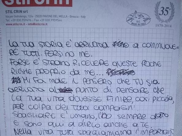La lettera di Greta alla dodicenne di Pordenone