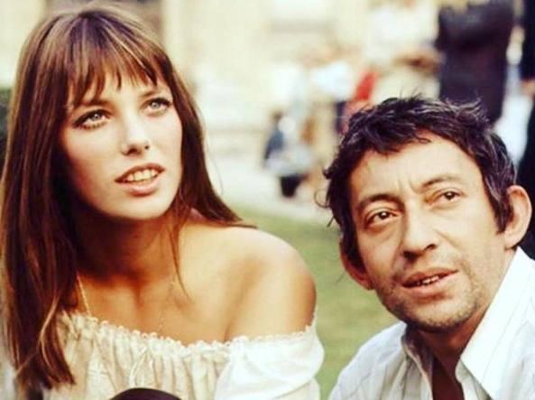 Jane Birkin e Serge Gainsburg negli anni Settanta