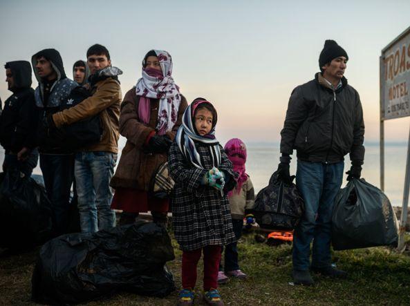 Rifugiati afgani e siriani all'arrivo in Turchia