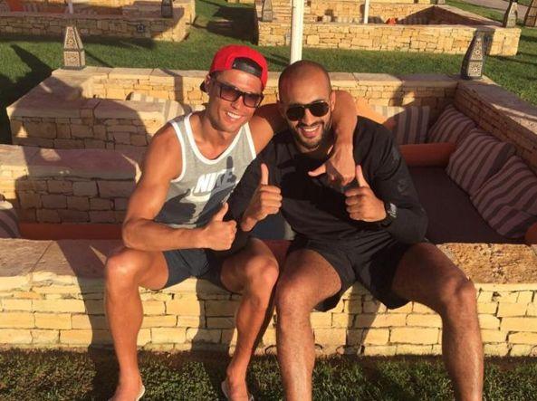 Cristiano Ronaldo con Badr Hari