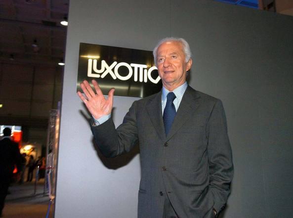 Il patron di Luxottica, Leonardo Del Vecchio