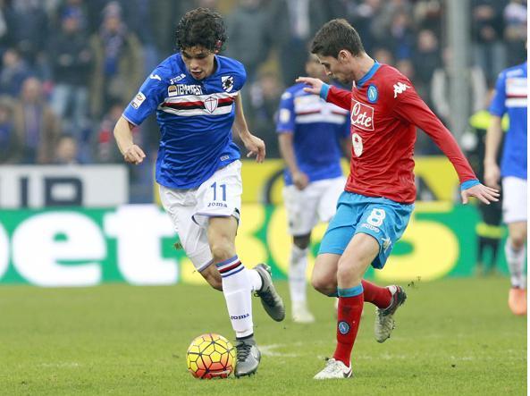 Un momento di Sampdoria-Napoli della scorsa giornata di campionato (LaPresse/Andreani)