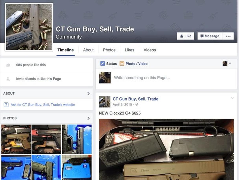 Una pagina Facebook aperta per vendere armi