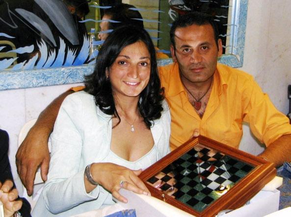 L'ispettore Filippo Raciti con la moglie Marisa Grasso