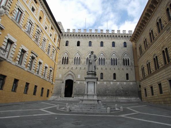 La sede centrale Monte dei Paschi di Siena