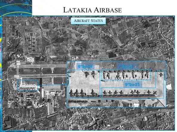 Una delle immagini Isi (Image Sat International) che confermano il massiccio dispiegamento aereo russo