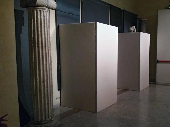 Musei Capitolini statue coperte durante l'incontro Renzi con Rouhani (Jpeg)