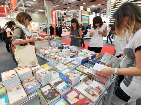 Un'immagine della 28esima edizione del Salone internazionale del libro di Torino, nel maggio 2015 (Ansa/A. Di Marco)