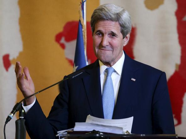Kerry alla Farnesina (Reuters)