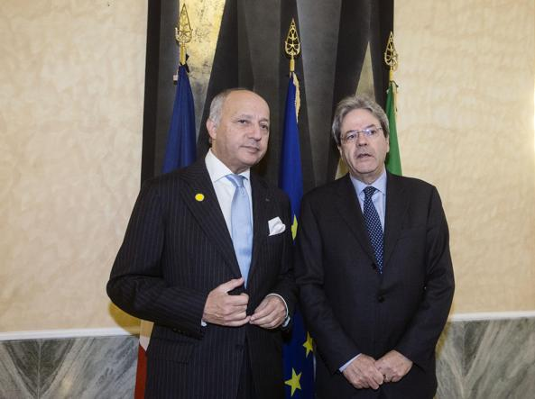 Laurent Fabius e Paolo Gentiloni