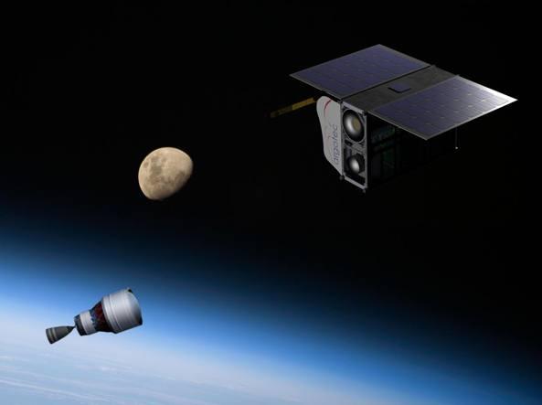 Un rendering del nano-satellite ArgoMoon