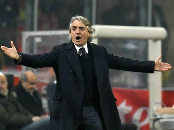 Roberto Mancini durante il derby perso 3-0 (Ipp/Paolo Bona )