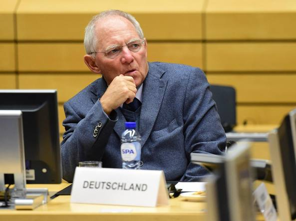 Il ministro delle Finanze tedesco, Wolfgang Schäuble